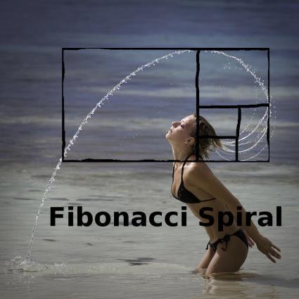 Spirala Fibonacciego - strumień wody