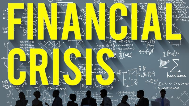 Financial Crisis Accounting Banking Economics Concept
