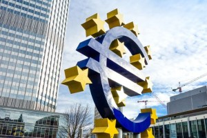 Frankfurt, Germany - January 27 : Euro Sign. European Central Ba