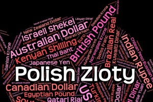 Polish Zloty Represents Currency Exchange And Coinage