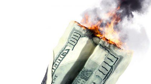 American market crash or dept concept